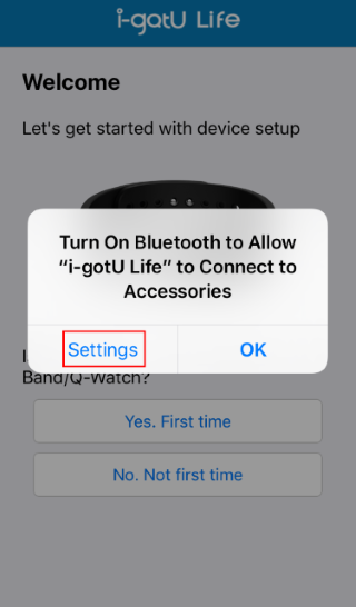 How to establish the connection between iPhone and Q-Band?